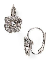 kate spade new york - Metallic Rose Garden Leverback Earrings - Lyst