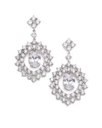 Adriana Orsini   Metallic Sweet Embrace Nested Oval Drop Earrings   Lyst