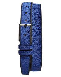 Mezlan | Blue D 'terciopelo' Velvet Belt | Lyst