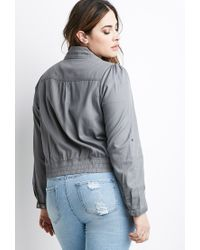 Forever 21 | Gray Plus Size Classic Utility Jacket | Lyst