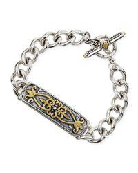 Konstantino | Metallic Silver & 18K Gold Tulip Id Bracelet | Lyst