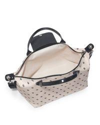 Longchamp - Black Le Pliage Neo Polkadot Medium Satchel - Lyst