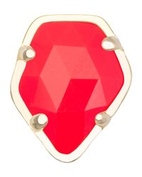 Kendra Scott - Bright Red Opaque Glass Facet Charm - Lyst