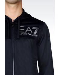 EA7 | Blue Visibility Line Full Zip Hooded Sweatshirt for Men | Lyst