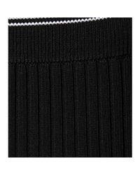 T By Alexander Wang - Black Ribbed Skirt - Lyst