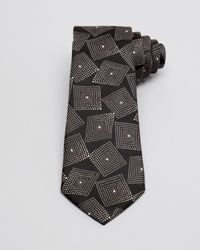 Armani - Black Geometric Square Classic Tie for Men - Lyst