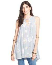 Free People | Blue 'Tree Swing' Sleeveless Top | Lyst