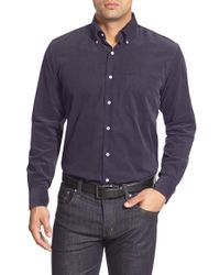 Peter Millar | Blue Regular Fit Corduroy Sport Shirt for Men | Lyst