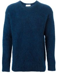 AMI | Blue Crew Neck Sweater for Men | Lyst