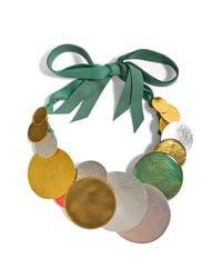Herve Van Der Straeten - Hammered Multicolored Gold-Plated Necklace - Lyst