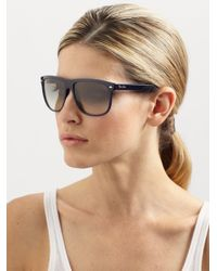 8e0186b0d1d9 Ray-Ban Flattop Boyfriend Sunglasses in Brown - Lyst