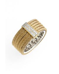 Alor | Metallic Diamond Cigar Band Ring | Lyst