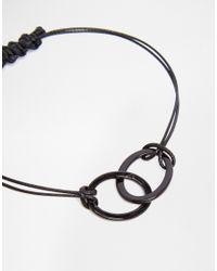 ASOS - Ditsy Geo Bracelet In Black for Men - Lyst