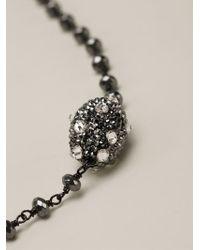 Roni Blanshay - Black Beaded Necklace - Lyst