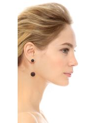 Marc By Marc Jacobs | Pave Ball Earrings - Black/oro | Lyst