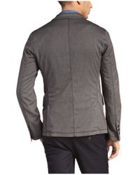 BOSS Orange Gray Regular-fit Jacket In Fabric Blend With Viscose: 'baron' for men