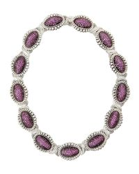Lagos | Fluted Pave Pink Sapphire Link Collar Necklace | Lyst