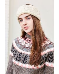 Urban Outfitters - White Cozy Cable Knit Earwarmer - Lyst
