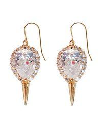 Noir Jewelry - Metallic Drop Mini Punk Earrings - Lyst