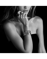 David Yurman - Metallic Chiclet Three-row Bracelet - Lyst