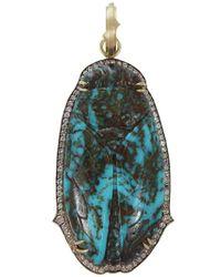 Sylva & Cie | Blue Turquoise Cicada Pendant | Lyst