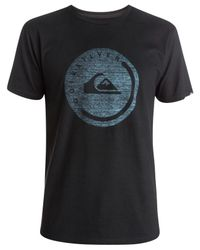 Quiksilver - Black Push It Graphic-print Logo T-shirt for Men - Lyst