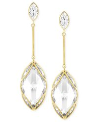 Swarovski | Metallic Gold-tone Pvd Crystal Drop Earrings | Lyst