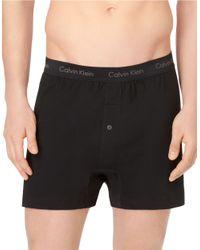 Calvin Klein | Black Cotton Classic 3 Pack Knit Boxer for Men | Lyst