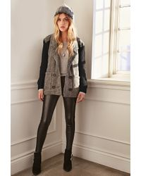 Forever 21 | Gray Sweater-knit Herringbone Jacket | Lyst