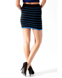 Forever 21 - Blue Contrast Piped Bandage Skirt - Lyst