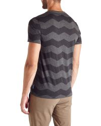 Ted Baker - Gray Frekik Zigzag Print T-shirt for Men - Lyst
