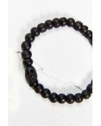 Urban Outfitters - Black Skull Bracelet - Lyst