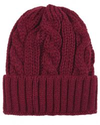 Jules B - Purple Cable Knit Wool Hat for Men - Lyst