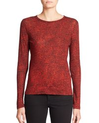 Proenza Schouler | Red Long-sleeve Printed Jersey Tissue Tee | Lyst
