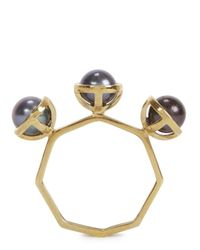 Smith/grey - Gray The Whisper Grey Pearl Ring - Lyst