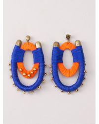 Blue Man - Blue Bicolor Earrings - Lyst