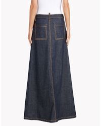 DSquared² - Blue Malaika Long Skirt - Lyst