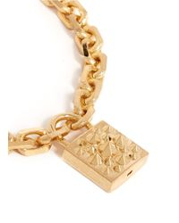 Alexander McQueen | Metallic Studded Lock Necklace | Lyst