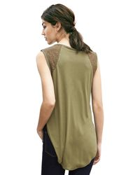 Banana Republic | Green Pieced Lace Muscle Tank | Lyst
