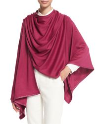 Loro Piana - Purple Madison Cashmere-blend Wrap - Lyst