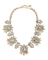 R.j. Graziano - Multicolor Floral Crystal Bib Necklace - Lyst