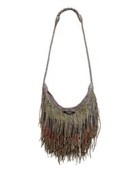 En Shalla | Green Leather Tassle Bag | Lyst