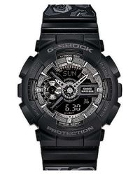 G-Shock | Black 's-series' Floral Band Resin Ana-digi Watch | Lyst