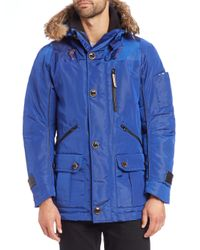 Rainforest | Blue Thermoluxe Waxed Nylon Parka for Men | Lyst