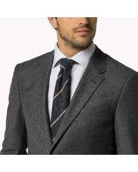 Tommy Hilfiger - Gray Wool Blend Fitted Blazer for Men - Lyst
