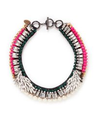 Venna - Multicolor Marquise Cut Crystal Wing Collar Necklace - Lyst
