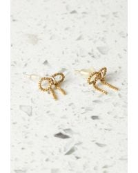 Forever 21 - Metallic By Boe Chain Bow Earrings - Lyst