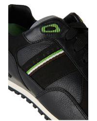 BOSS Green Black 'runcool Full' Trainers In Fabric Blend for men
