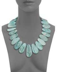 Nest - Blue Amazonite Bib Statement Necklace - Lyst