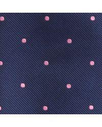 Hackett | Blue Mid Dot Silk Tie for Men | Lyst
